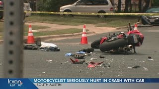 Motorcyclist has life threatening injuries after crash in South Austin