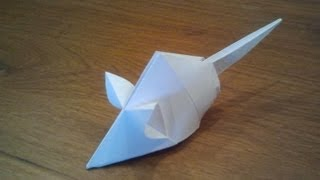 How To Make An Origami Mouse (Tetsuya Gotani)