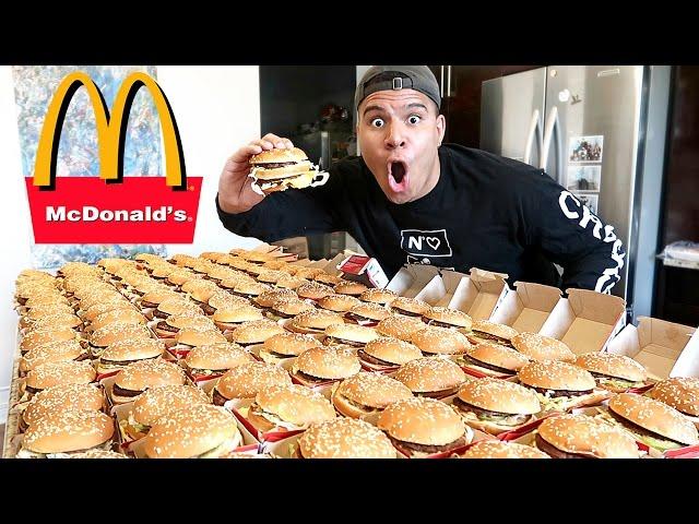 UNGLAUBLICHE 100+ MCDONALD'S BIG MAC CHALLENGE (UNMÖGLICH) *100,000 CALORIES*