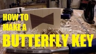 How To Make A Butterfly Key/Bow Tie/Dutchmen/Dovetail Key