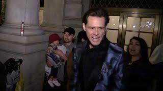 Jim Carrey arriving at the Harper s Bazaar party
