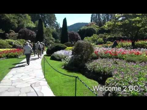 Victoria Harbour and Butchart Garden Vancouver Island BC Canada