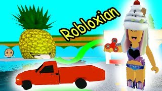 Car In Pool + Fidget Spinning Robloxian Life Cookie Swirl C Plays Roblox Games Online