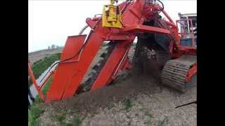 Barth Hollanddrain EGS 3000 Drainage Trencher / first run in the Netherlands