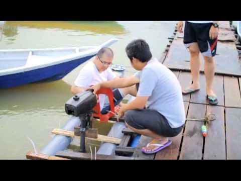 DIY PVC pipe kayak Pt.2 with engine