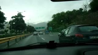 دختر لخت در اتوبان همت تهران