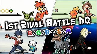 Pokemon All First Rival Battles (1996 - 2016) [HQ]
