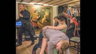Simon Sez - Comedy Stage Hypnosis - Mistress Spankey rides again !!