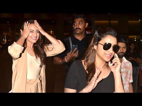 Airport Spotting 30th Aug 2016 - Sonakshi Sinha, Parineeti Chopra, Rishi Kapoor, Neetu Singh