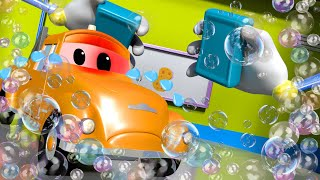 There was an ACCIDENT at the CAR WASH ! - Amber the Ambulance in Car City l Cartoons for Children