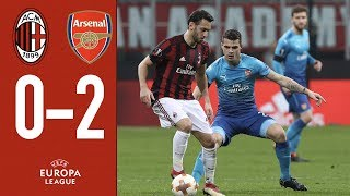 Highlights AC Milan 0-2 Arsenal - Europa League Round of 16 First Leg