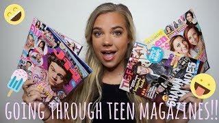 GOING THROUGH TEENAGE MAGAZINES!