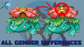 All Gender Differences in Pokémon [Generation 1 to 6]