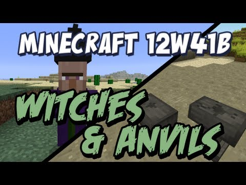 Minecraft Witches and Anvils Snapshot 12w41b