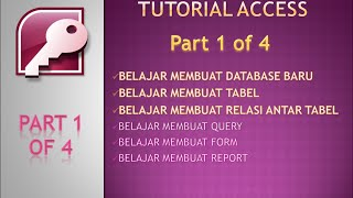 TUTORIAL 1 - MICROSOFT ACCESS INDONESIA (PENJUALAN PULSA) PART 1 of 4