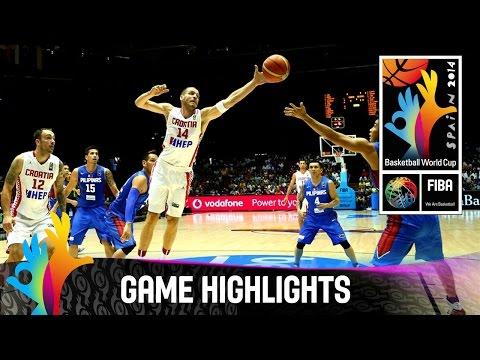 watch Croatia v Philippines - Game Highlights - Group B - 2014 FIBA Basketball World Cup