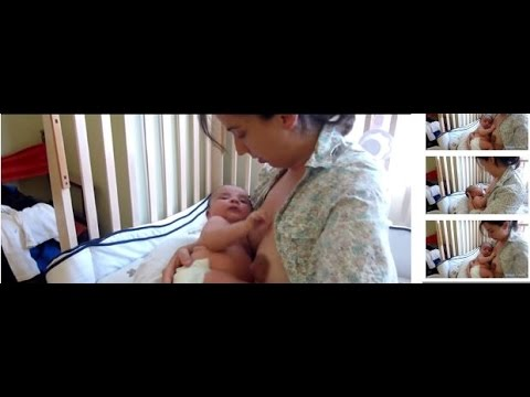 Difficult Latch? How to help baby to latch on Breast using cross-cradle hold