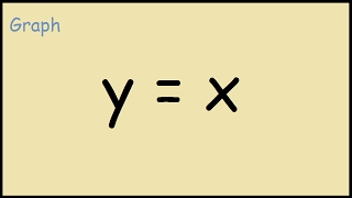 How to Graph the line y = x
