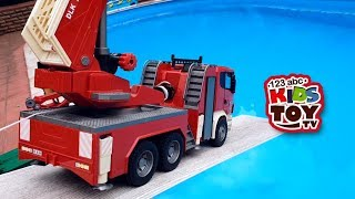 Toys CARS MANY LARGE CARS BRUDER IN THE POOL Educational Videos for kids. Cars for children TaTaToys