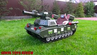 Funny Baby Unboxing And Assemblig - The Power Wheel Tanks Pretend Play with Tank