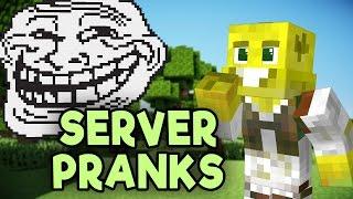 Minecraft Server Pranks!