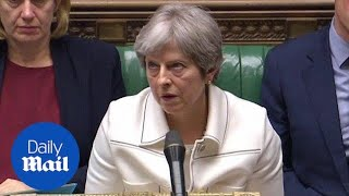 Moment Theresa May appears to roll her eyes at Jeremy Corbyn - Daily Mail