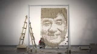 Jackie Chan chopsticks portrait by REDhongyi