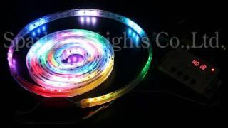 RGBで光の流れるLEDテープライト_プログラムNo.018