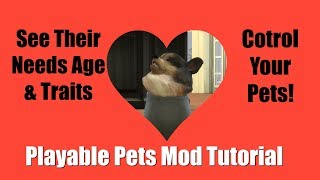 Playable Pets Mod Tutorial (How To Download And Install) Control Your Pets Sims 4