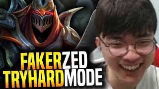 Faker Tryhard Mode With Zed! - SKT T1 Faker SoloQ Playing Zed Mid! | SKT T1 Replays