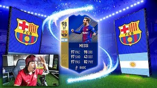 OMG I PACKED 98 TOTS MESSI!!! FIFA 18