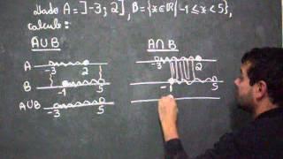 união e intersecção de intervalos com ph