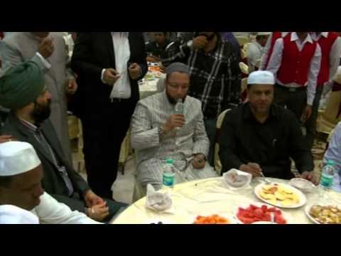 Asaduddin Owaisi, Kishan Reddy and other leaders at Iftar Party