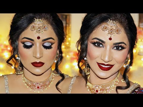 Xxx Mp4 Indian Bridal Makeup Tutorial Reception Look By SmithaDBeauty 3gp Sex