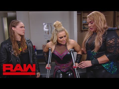 Xxx Mp4 Nia Jax And Ronda Rousey Check On Natalya In The Trainer S Room Raw June 4 2018 3gp Sex