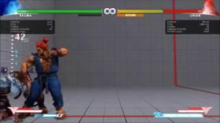 Street Fighter V Mysterious Mod - Akuma Combo Demonstration