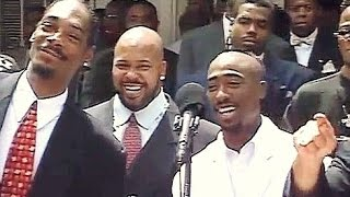 (UNSEEN) Tupac and Death Row At Brotherhood Crusade Rally, August 15, 1996!