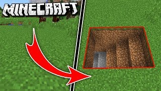 Hidden & Secret UNDERGROUND BASE in Minecraft!