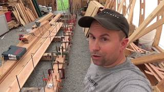 Laying the Keel: laminated wood boat keel, SDP ep13