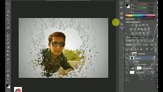 Creative Face Photo Menipuletion ¦ Photoshop tutorial Paint Splash  using Brush