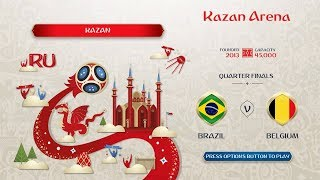 FIFA 18 world cup prediction,Brazil vs Begium Quarter finals