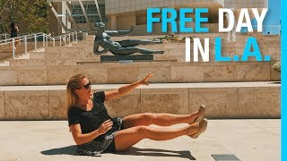 FREE DAY IN LA // PALM SPRINGS & LOS ANGELES TRAVEL VLOG (SN 3 EP 53)