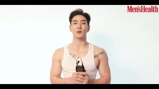 NU'EST W's Baekho gives a preview of his sexy biceps in greeting clip for his 'Men's Health' cover p