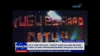 Saksi: Afi o Fire festival, target makuha ang record para sa may pinakamaraming nagdala ng sulo