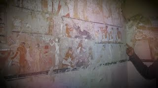 EGYPT || 4000-year-old tomb of 5th Dynasty  discovered at Giza Plateau
