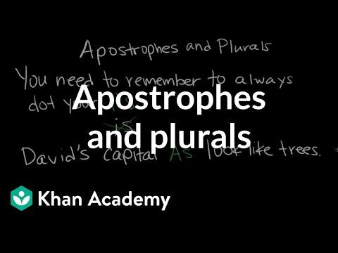 Xxx Mp4 Apostrophes And Plurals The Apostrophe Punctuation Khan Academy 3gp Sex