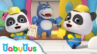 Baby Panda Delivers Parcels | Kids Role Playing | Supermarket Shopping | BabyBus