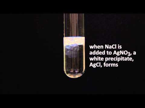 precipitation reaction AgNO3 NaCl