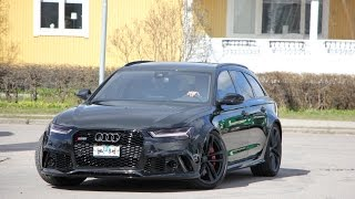 Blacked out 2017 Audi RS6 C7 Performance  700+PS| Brutal Sound |Revs|Akropovic exhaust system