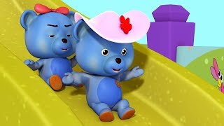 Ten in the Bed - Teddy Playing in the Slide | Rhymes for Children | Infobells